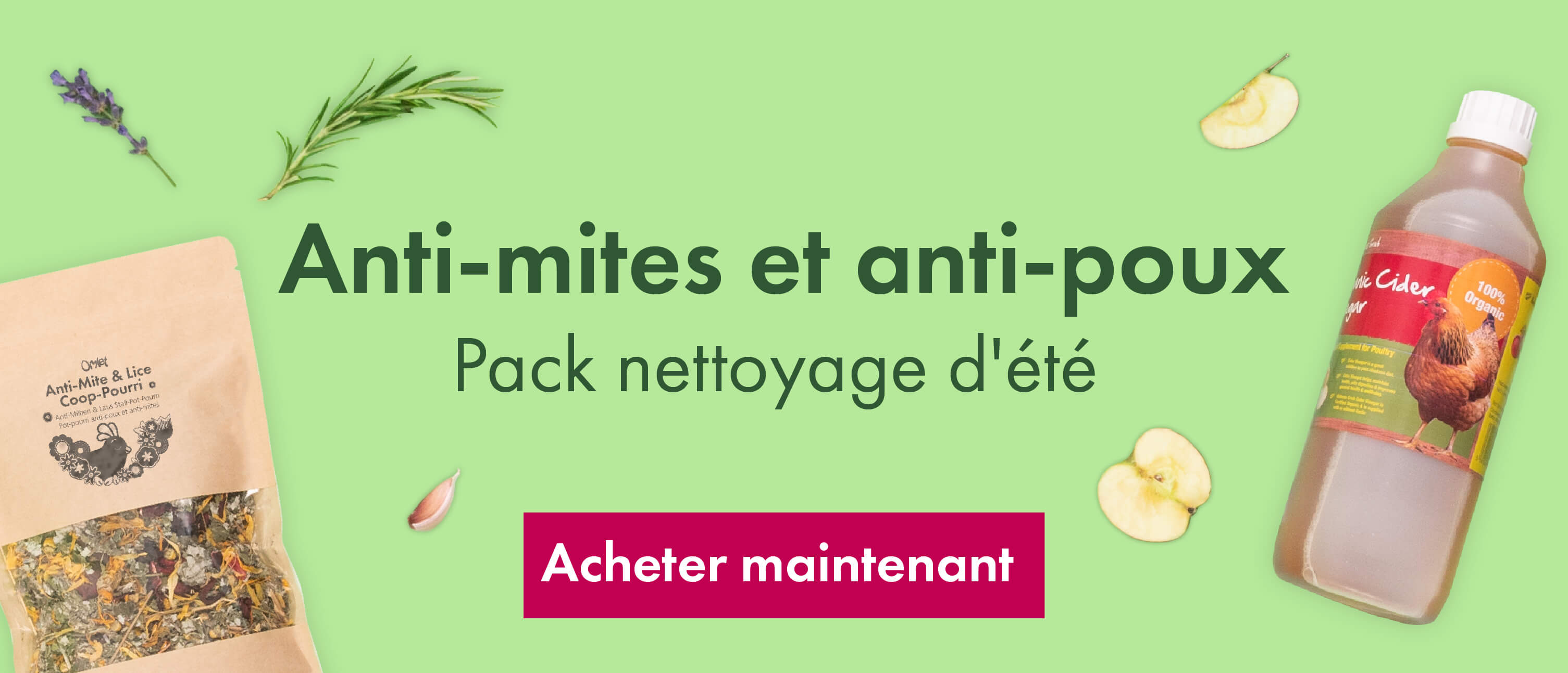 Anti-Mite and Lice Bundle Banner