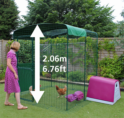 2.06 metre Omlet walk in chicken run.